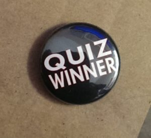 Quiz Winner black badge single