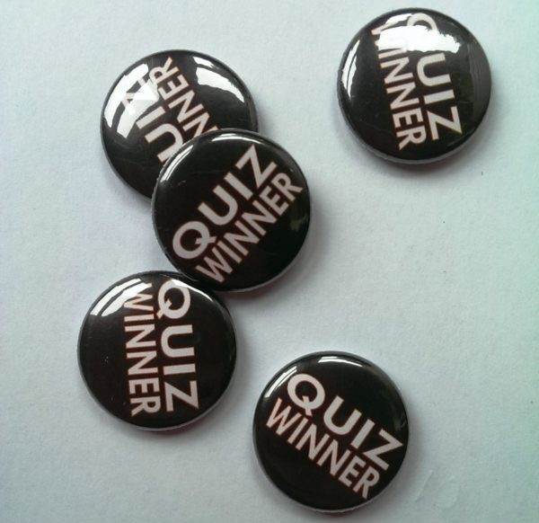 Quiz Winner Badges - black